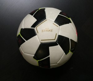RIghted soccer ball
